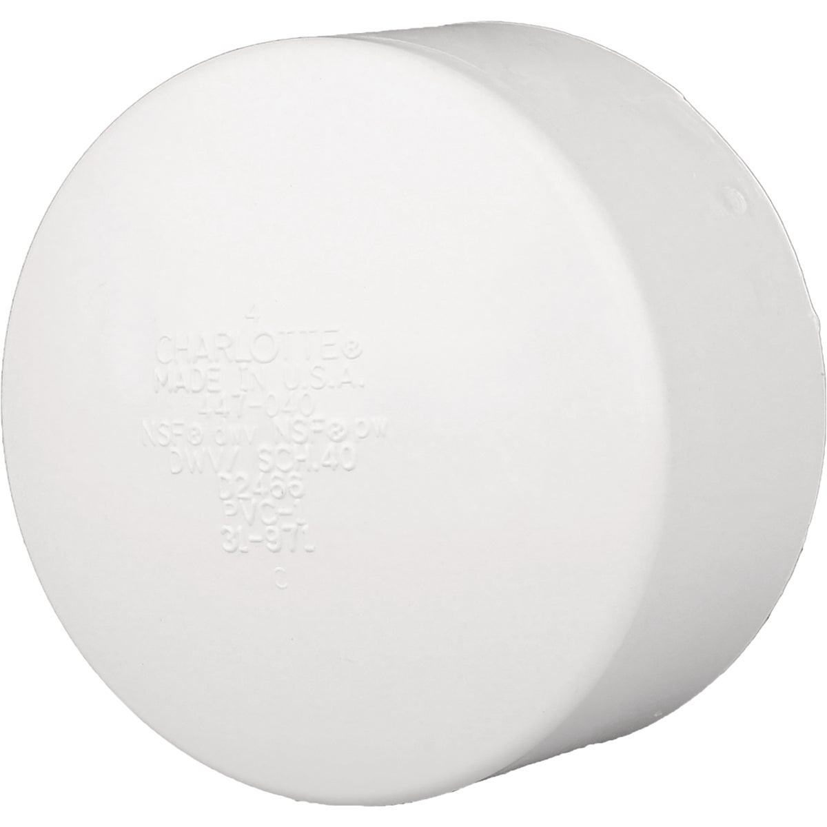"6"" PVC-DWV CAP"