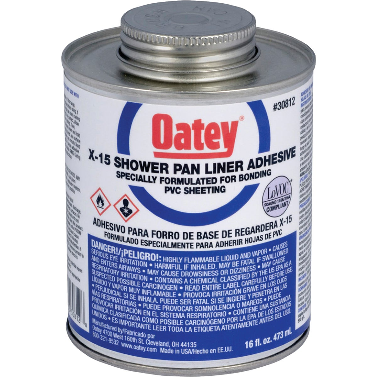 X-15 PVC SOLVENT - 30812 by Oatey Scs