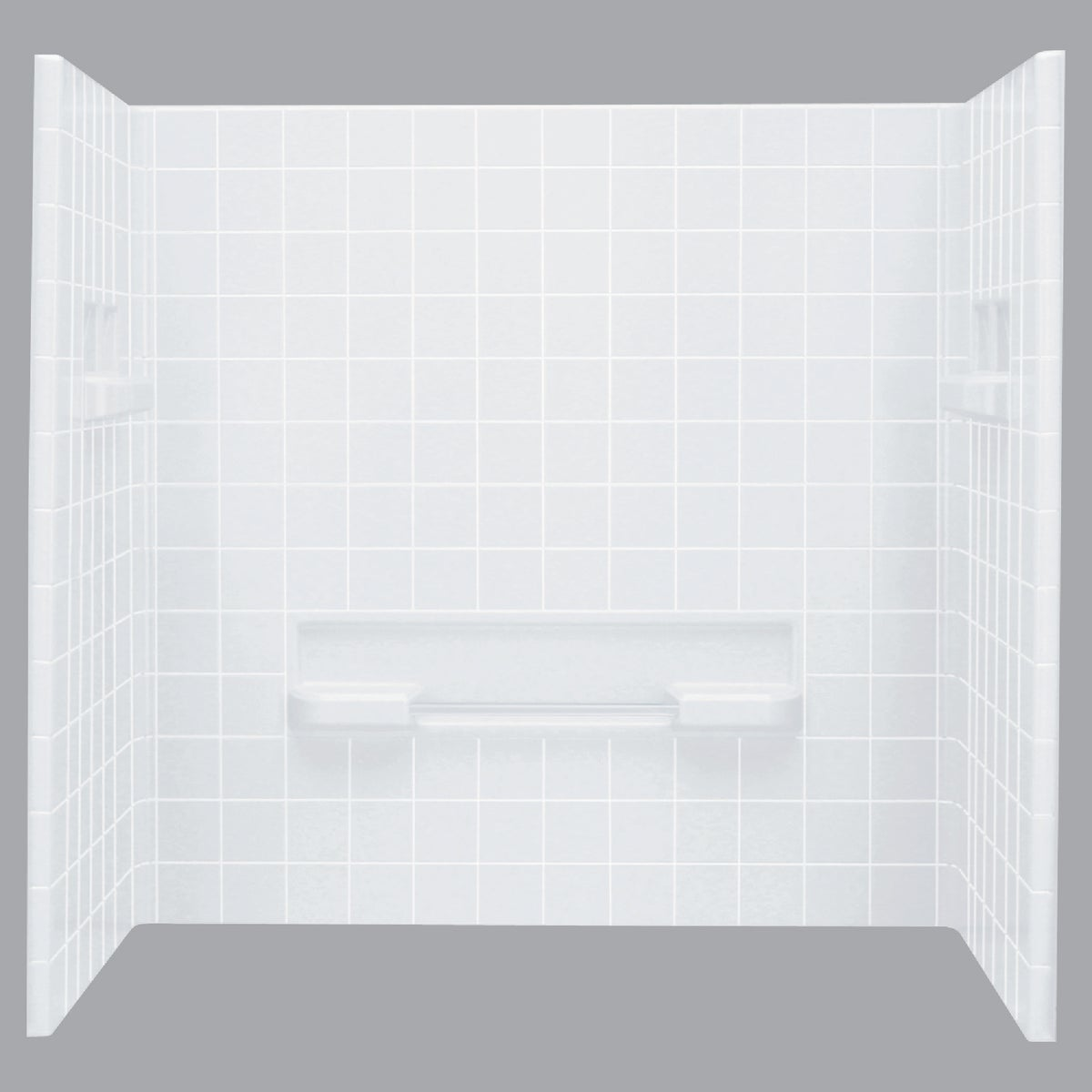 "60"" WHITE SHOWER WALLSET"