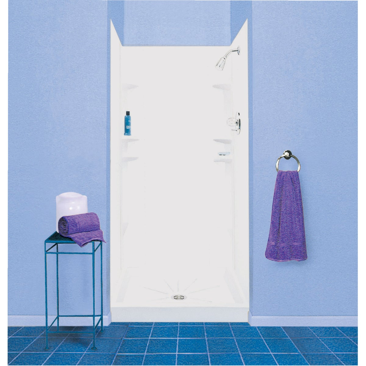 "30-48"" SHOWER WALL - 247WHT by E L Mustee"