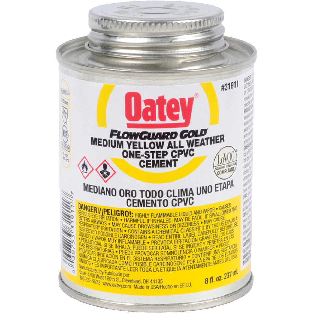 1/2PINT F/G CPVC CEMENT - 31911 by Oatey Scs