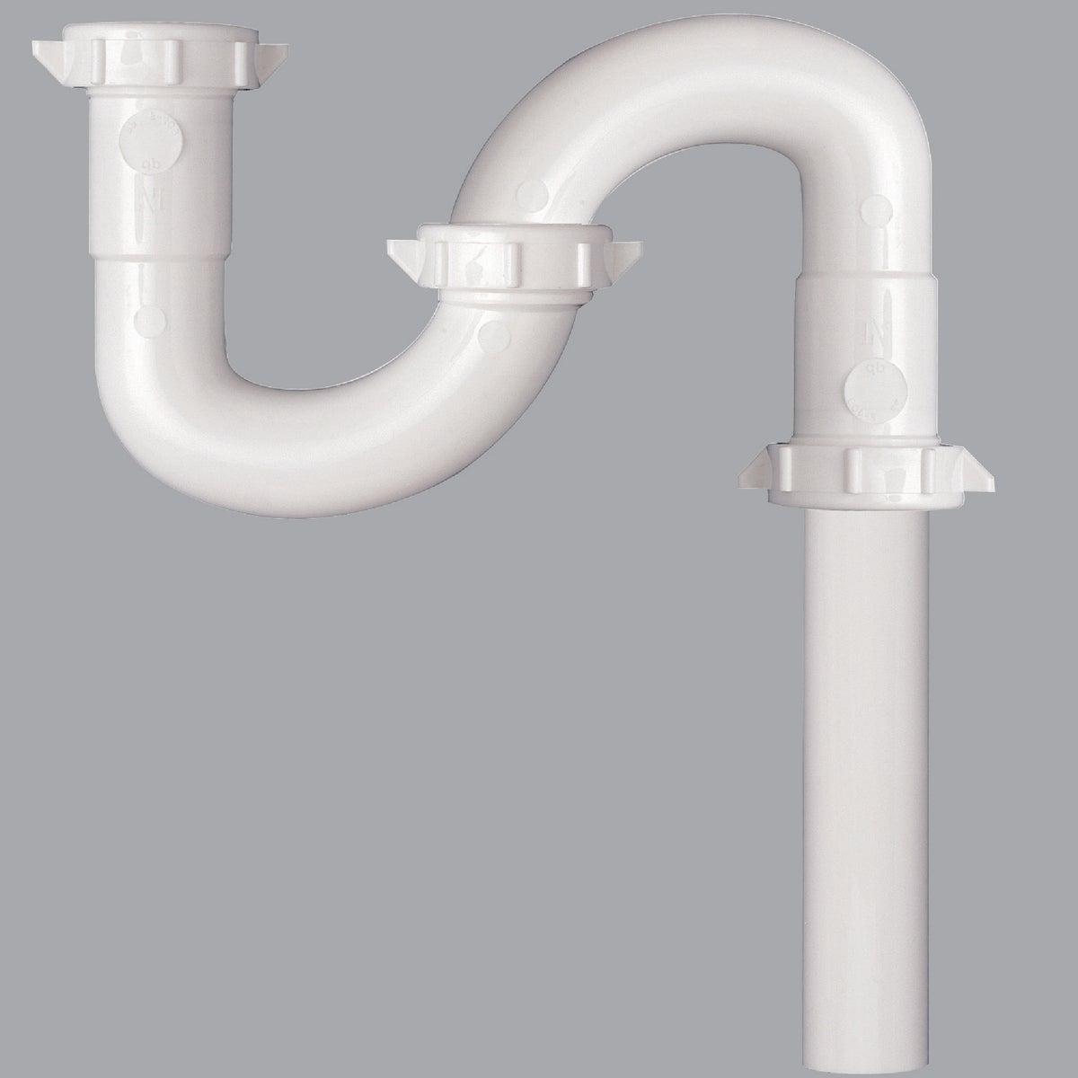 Plumb Pak/Keeney Mfg. 1-1/2 WHT PLASTIC S-TRAP 494917