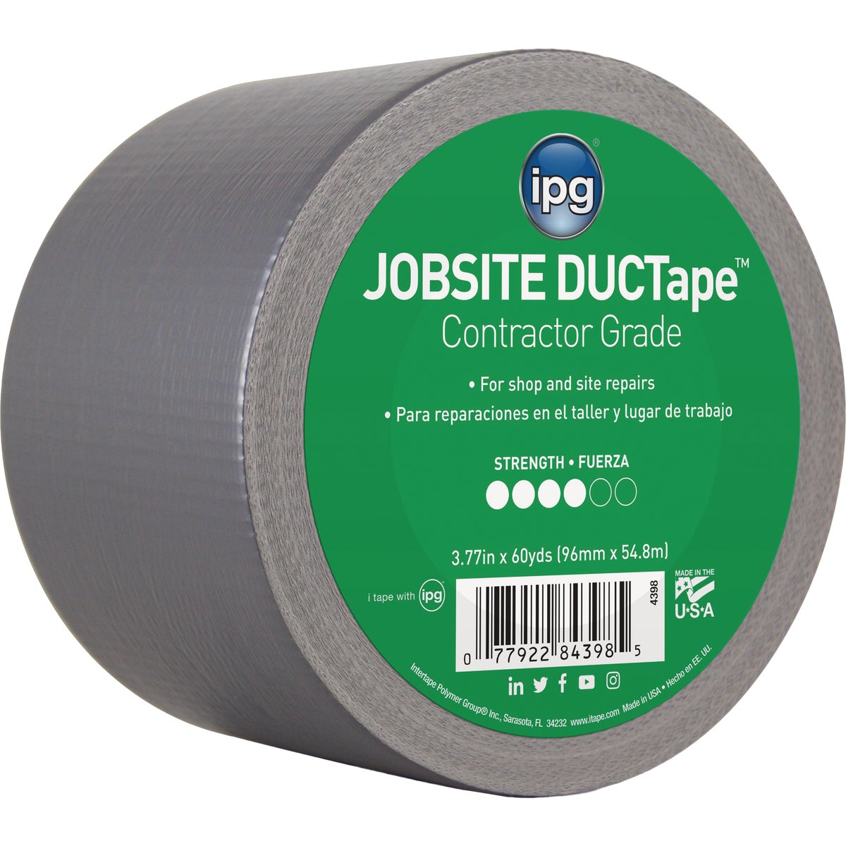 "4""X55YD SILVER DUCT TAPE - 84398 by Intertape Polymer"