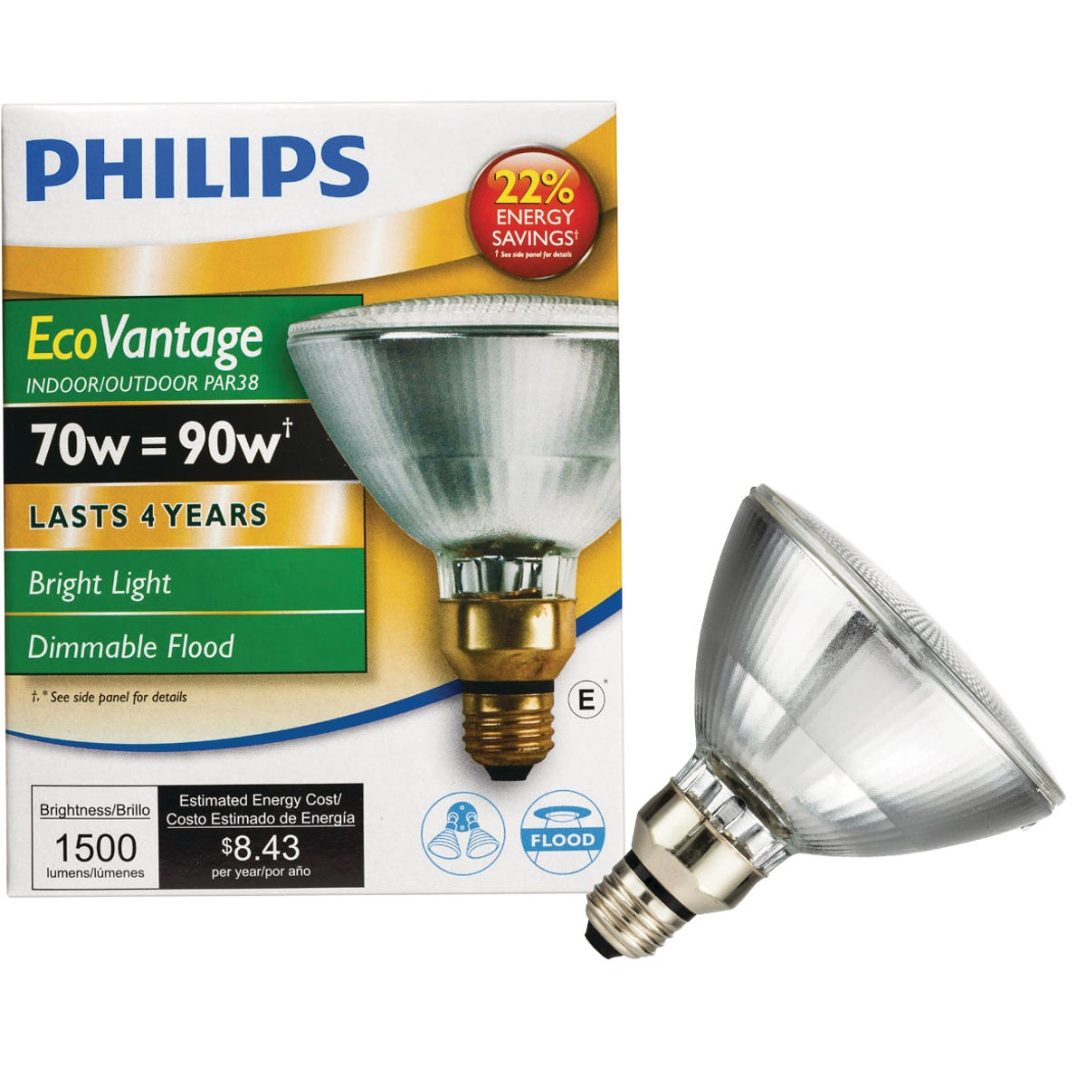 75W PAR FLD HALOGEN BULB - 62231 75PARHIR8KFL25 by G E Lighting