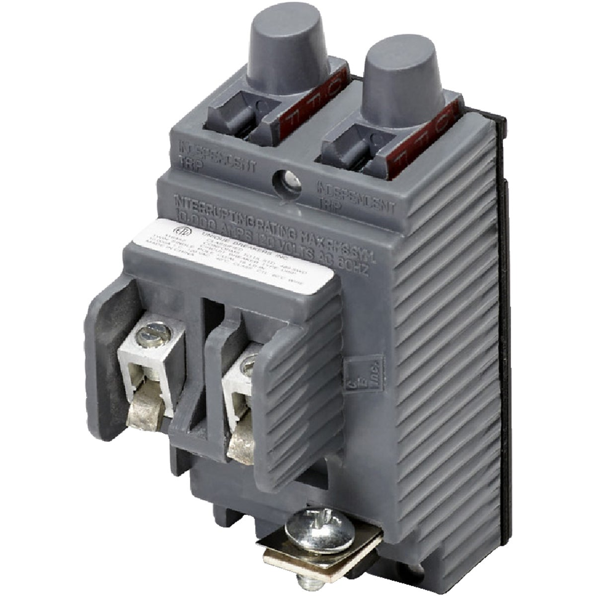 20A TWIN CIRCUIT BREAKER - UBIP2020 by Connecticut Electric