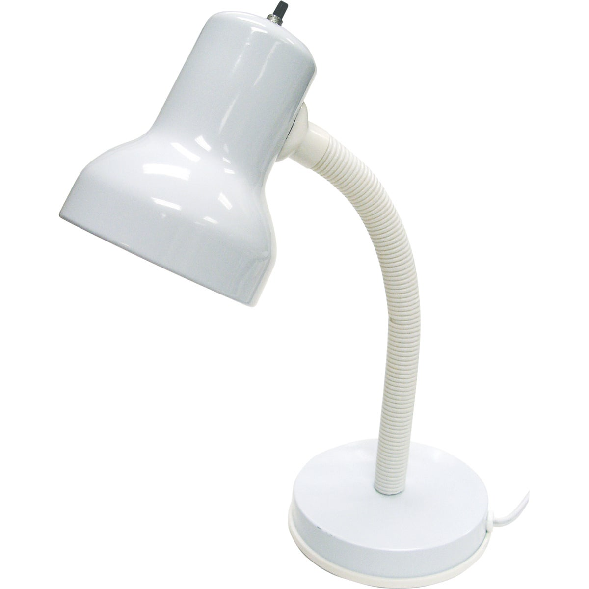 WHT CFL 13W DESK LAMP
