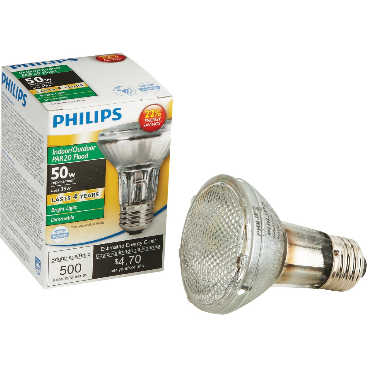 35W PAR20 HAL FLOOD BULB - 74869 by G E Lighting