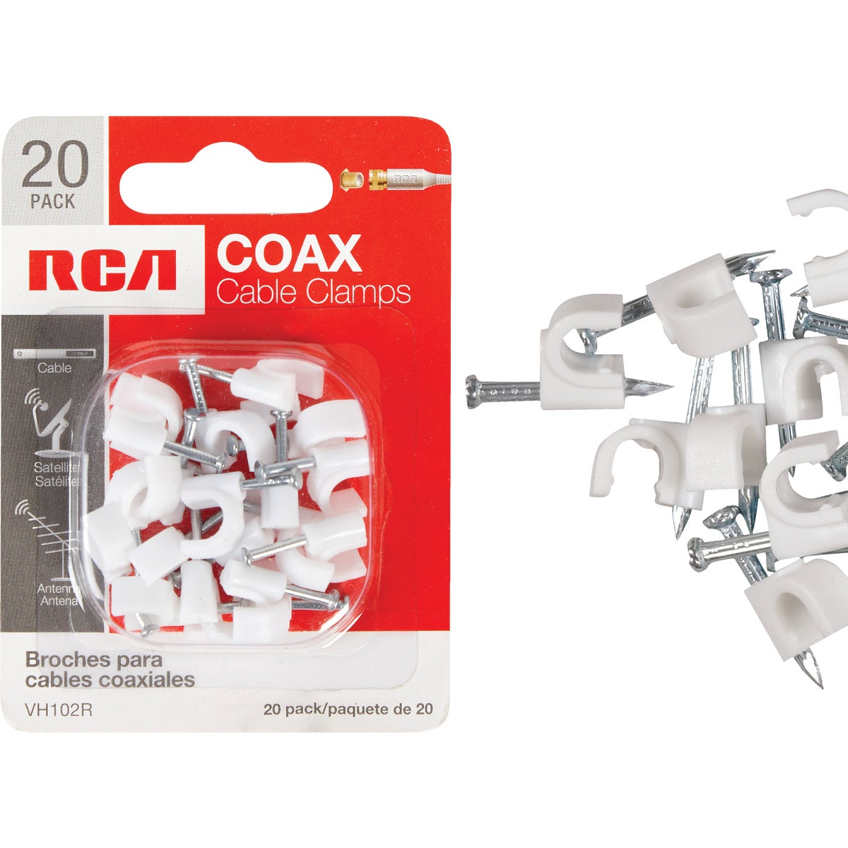 20PK COAX CABLE NAIL - VH102RV by Audiovox Accessories