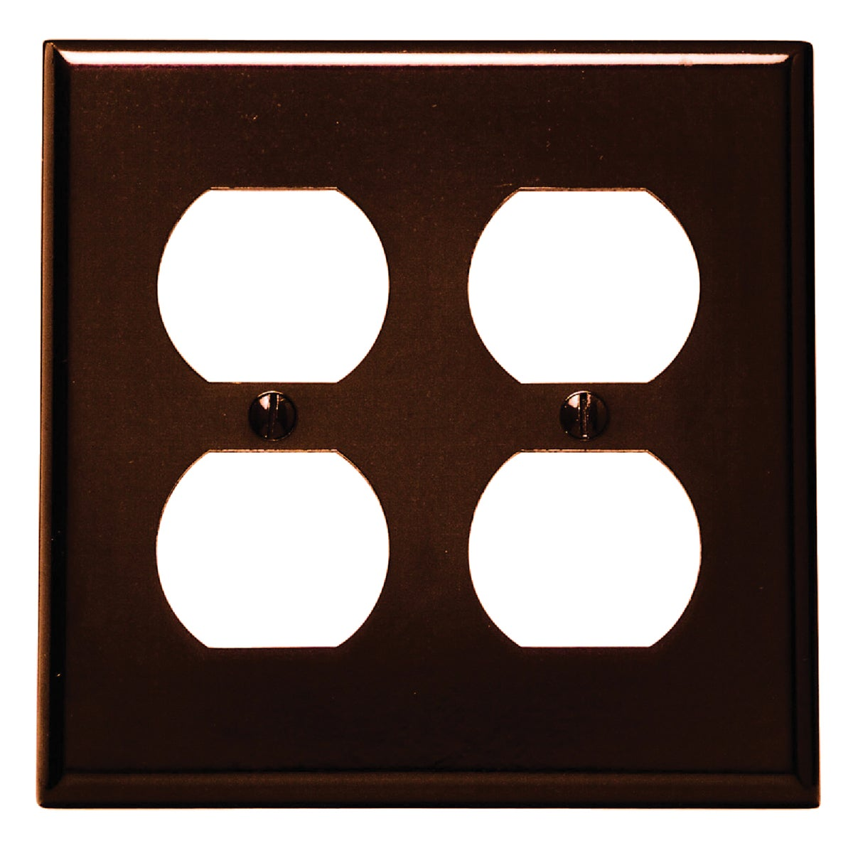 BRN 4-OUTLET WALL PLATE - 85016 by Leviton Mfg Co