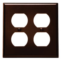 Leviton BRN 4-OUTLET WALL PLATE 85016