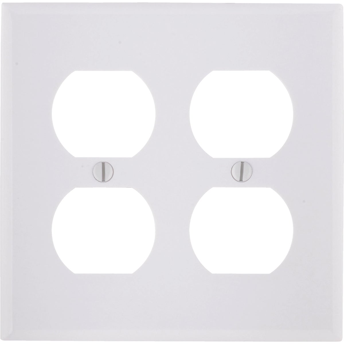 WHT 4-OUTLET WALL PLATE