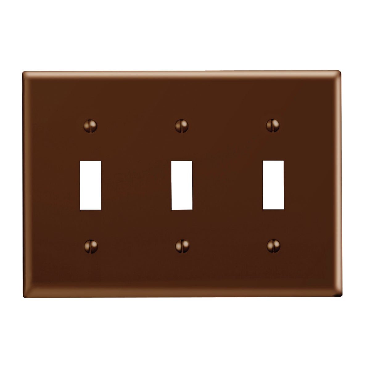BRN 3-TOGGLE WALL PLATE - 85011 by Leviton Mfg Co