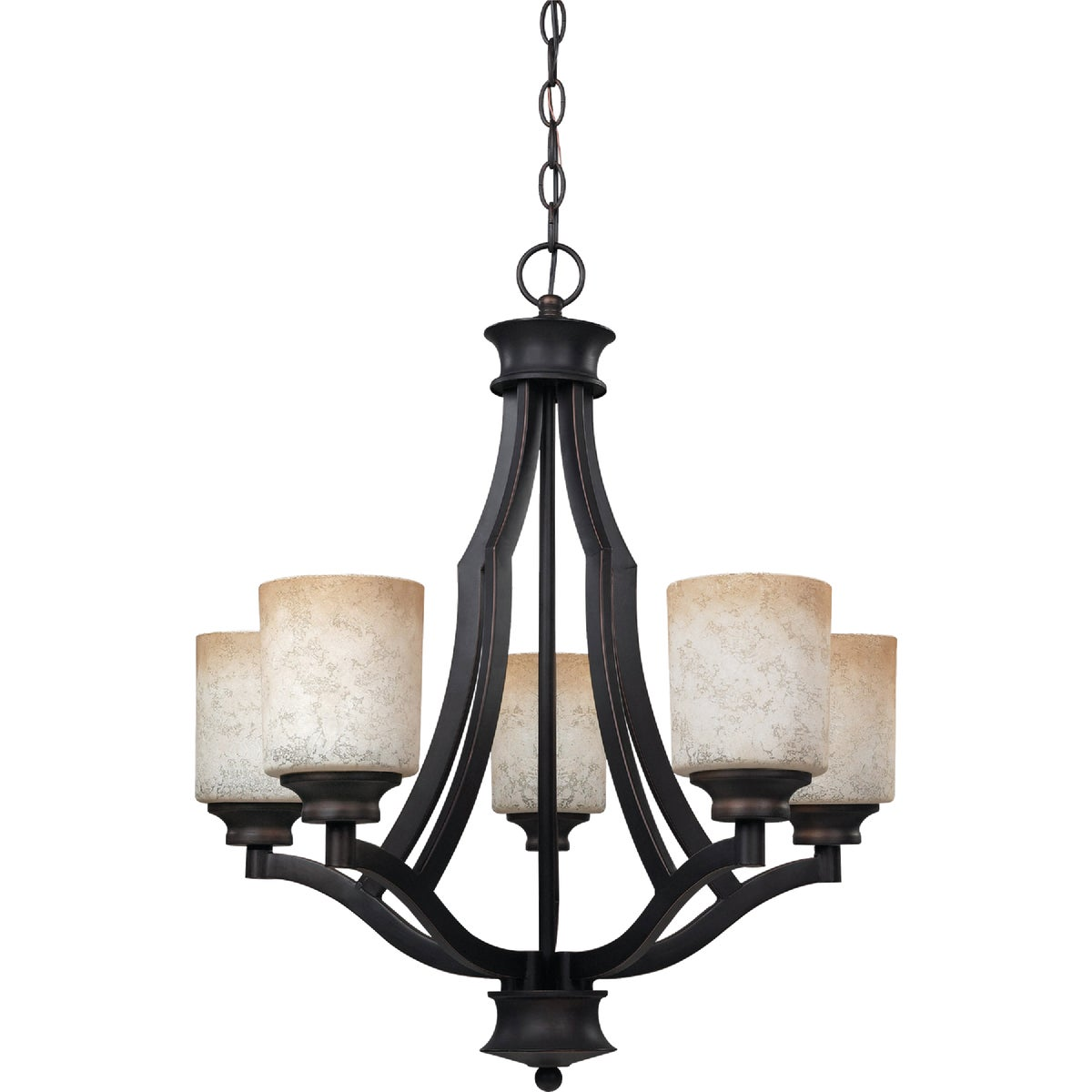5BULB ANTIQUE CHANDELIER - ICH375A05RA by Canarm Gs