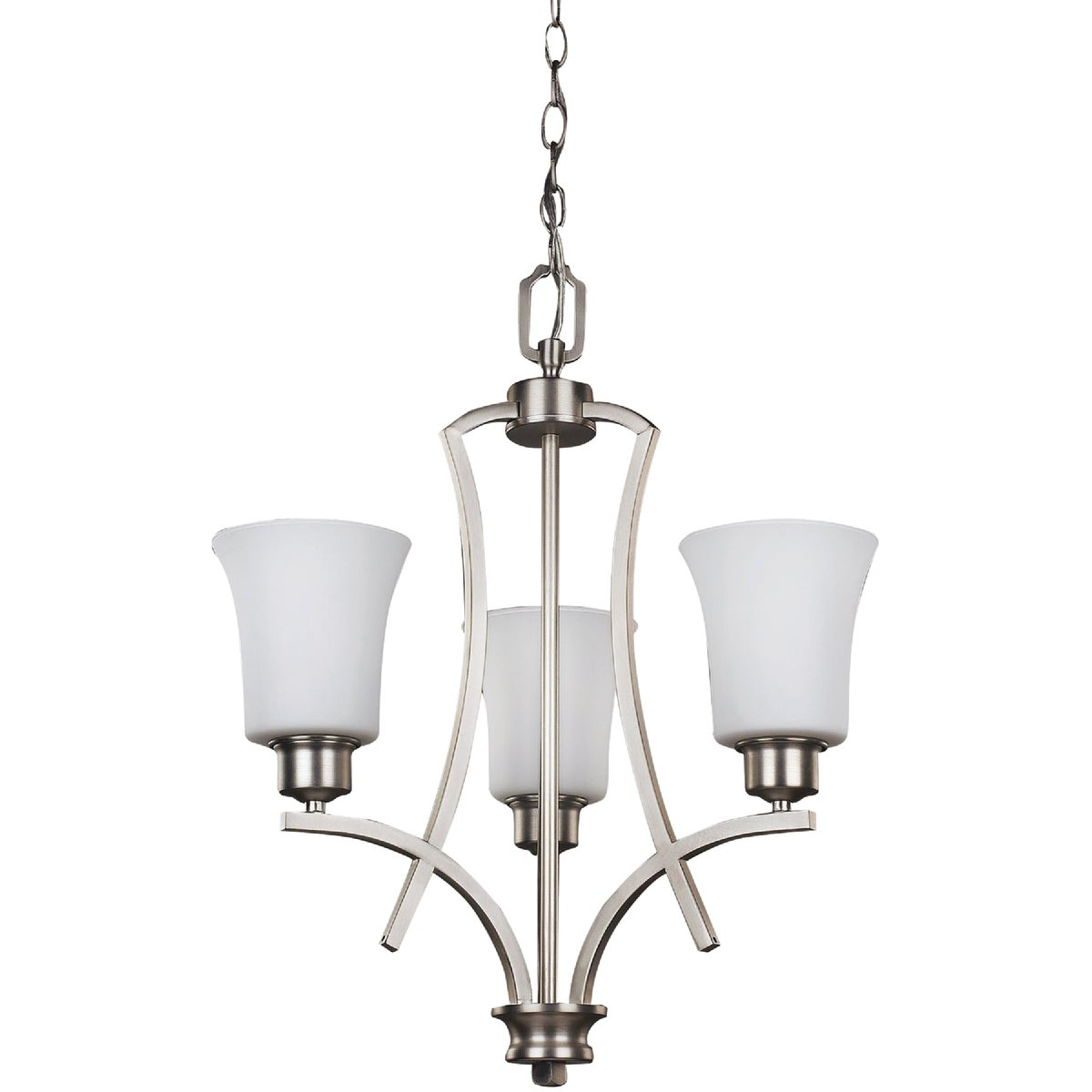 3 BULB NICKEL CHANDELIER - RICH250A03BN by Canarm Gs