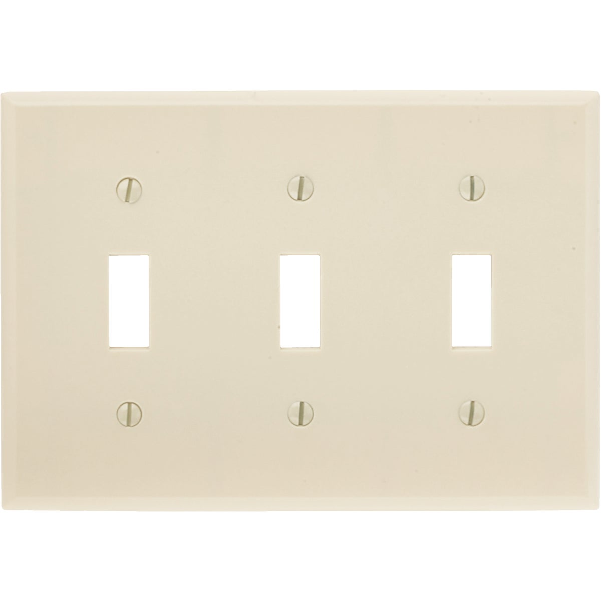 IV 3-TOGGLE WALL PLATE - 86011 by Leviton Mfg Co