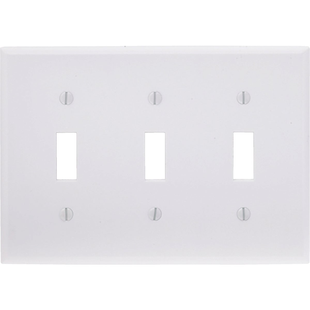 WHT 3-TOGGLE WALL PLATE - 88011 by Leviton Mfg Co