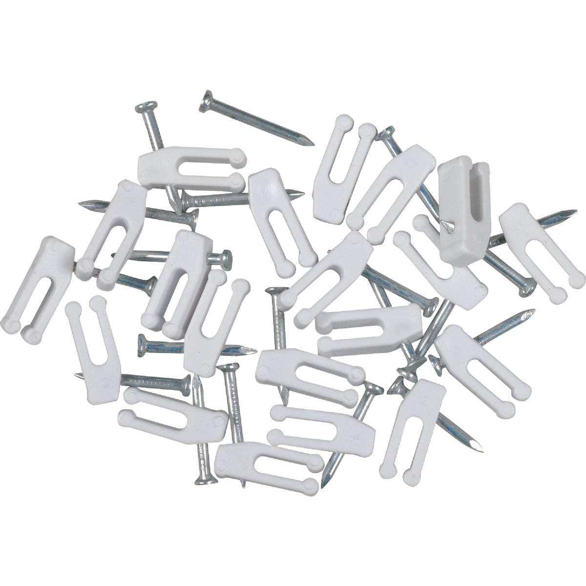 20PK NAIL-IN CABLE CLIP - TP103R by Audiovox Accessories