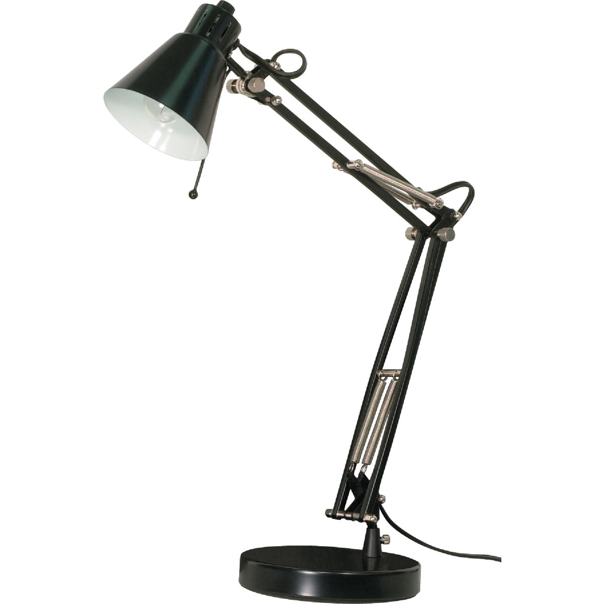 BLK SWINGARM DESK LAMP - LS-202BLK by Lite Source