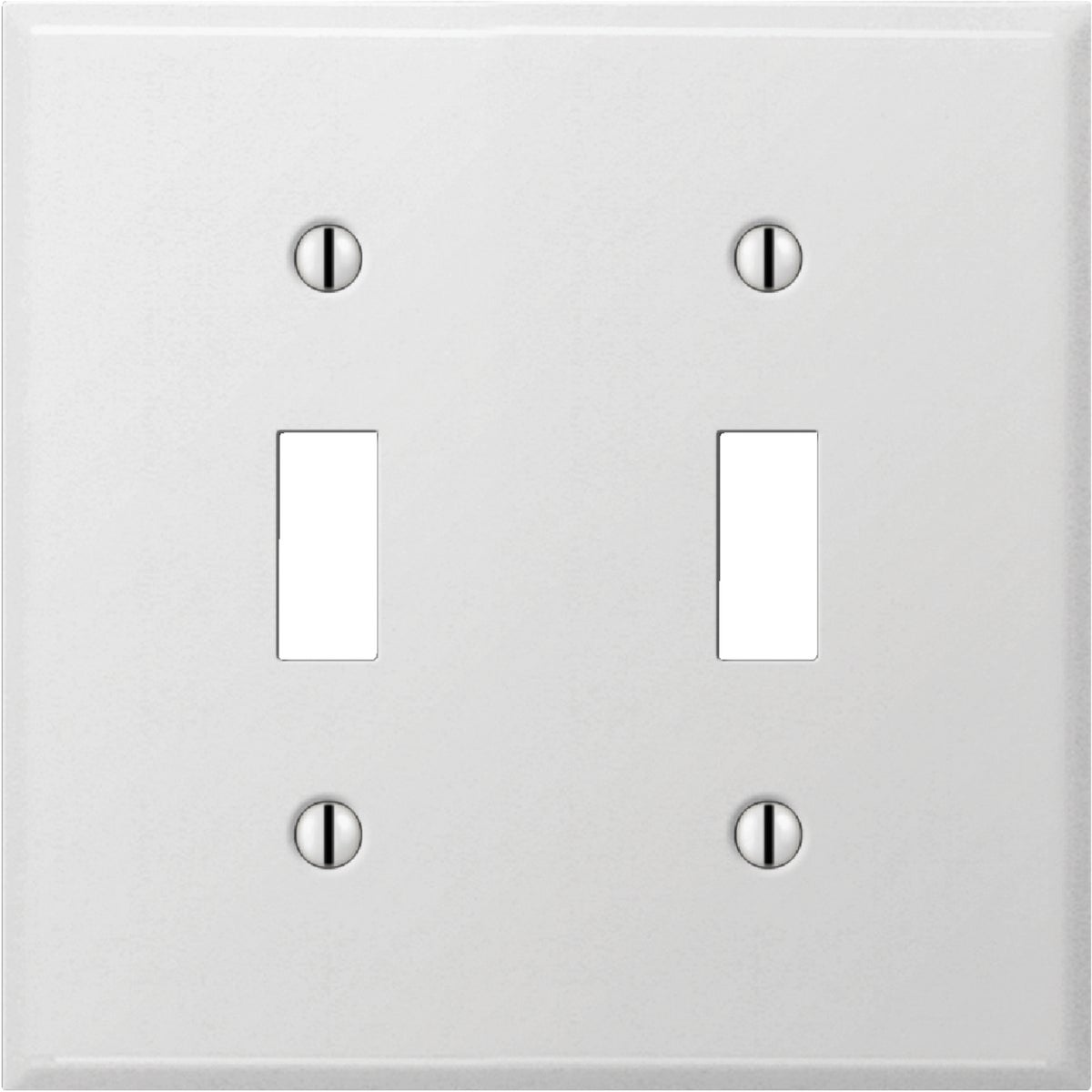 WHT DBL SWTCH WALL PLATE
