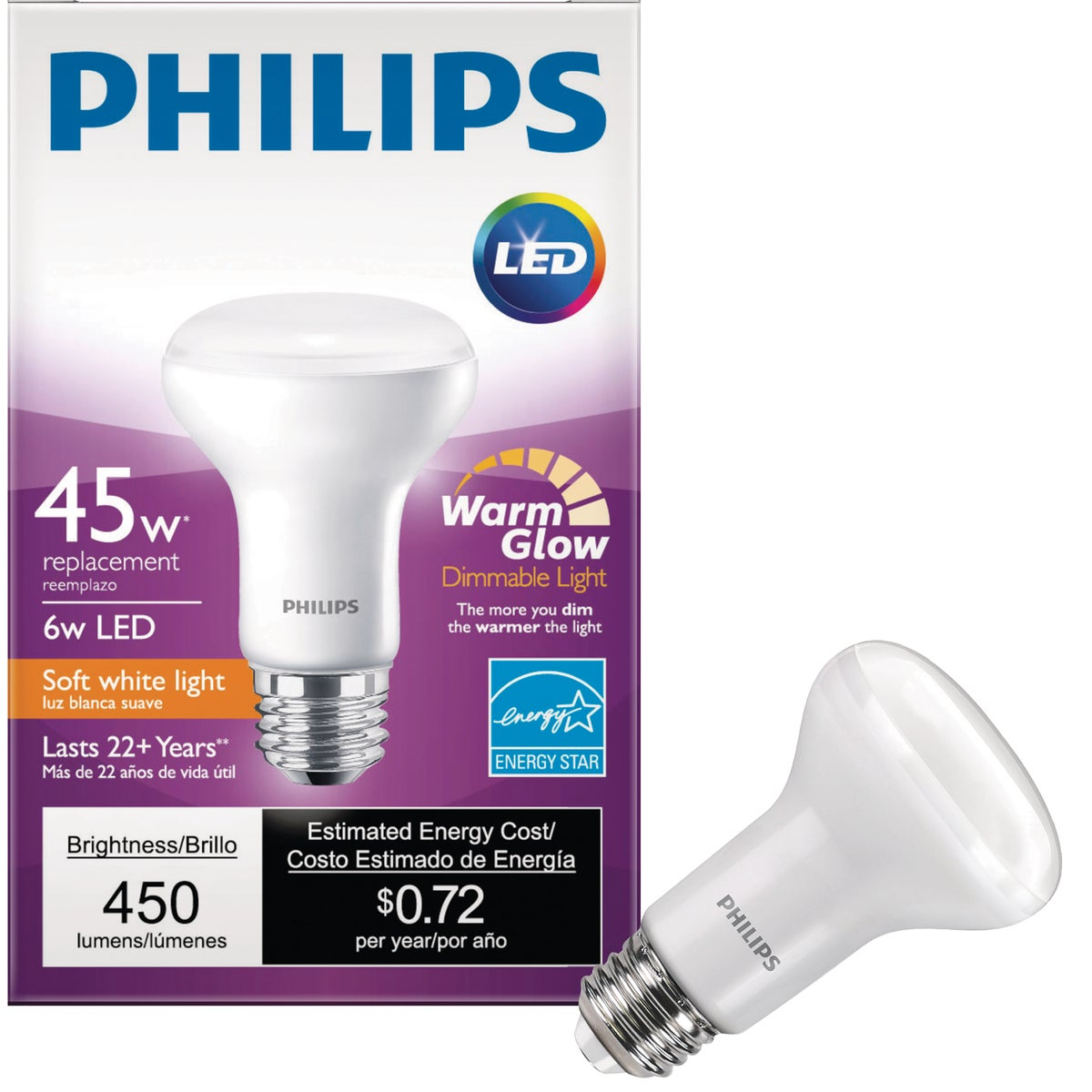9W R20 LED 27K BULB - RLR209W27KD by TCP