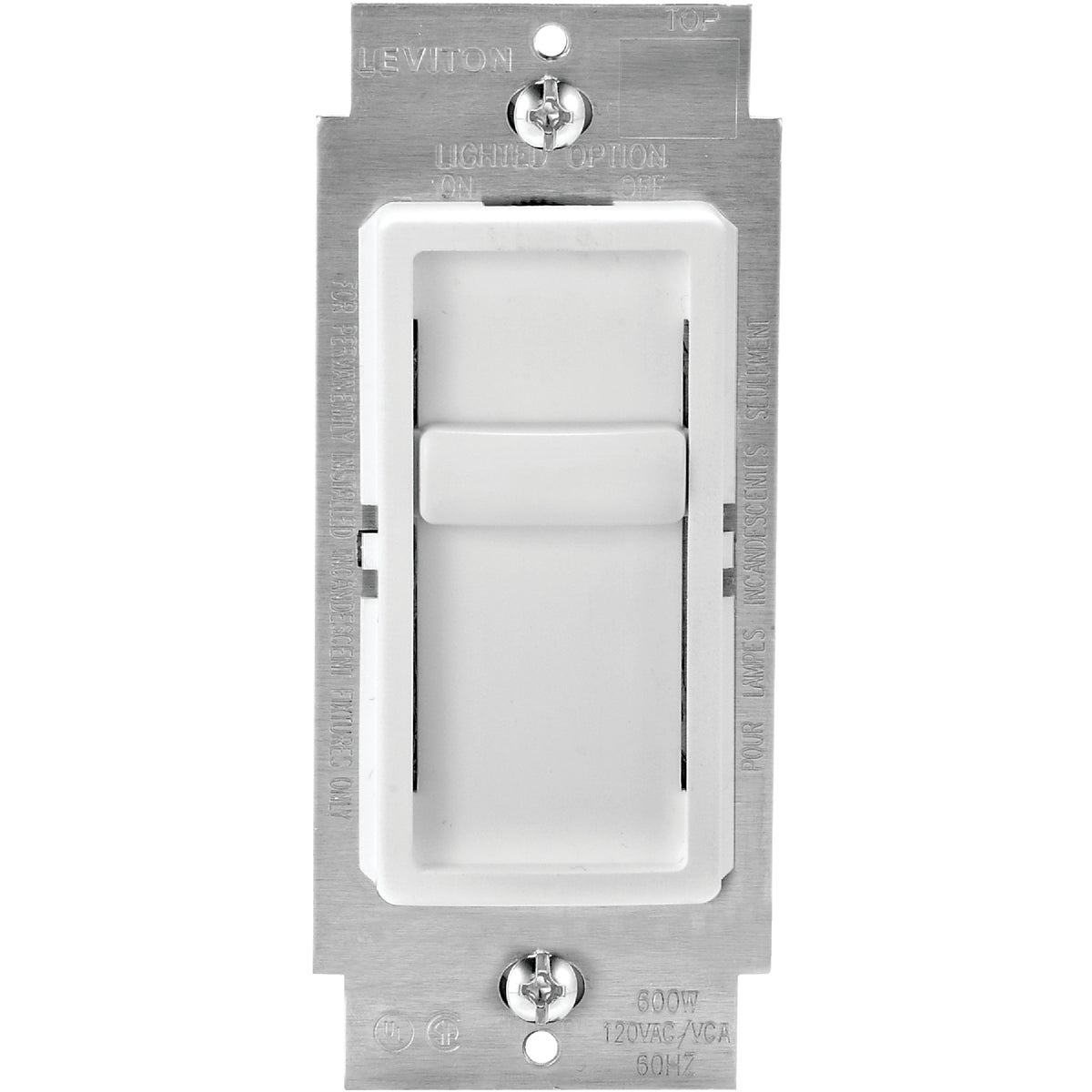 WH SP UNIVERSAL DIMMER - C22-06672-1LW by Leviton Mfg Co
