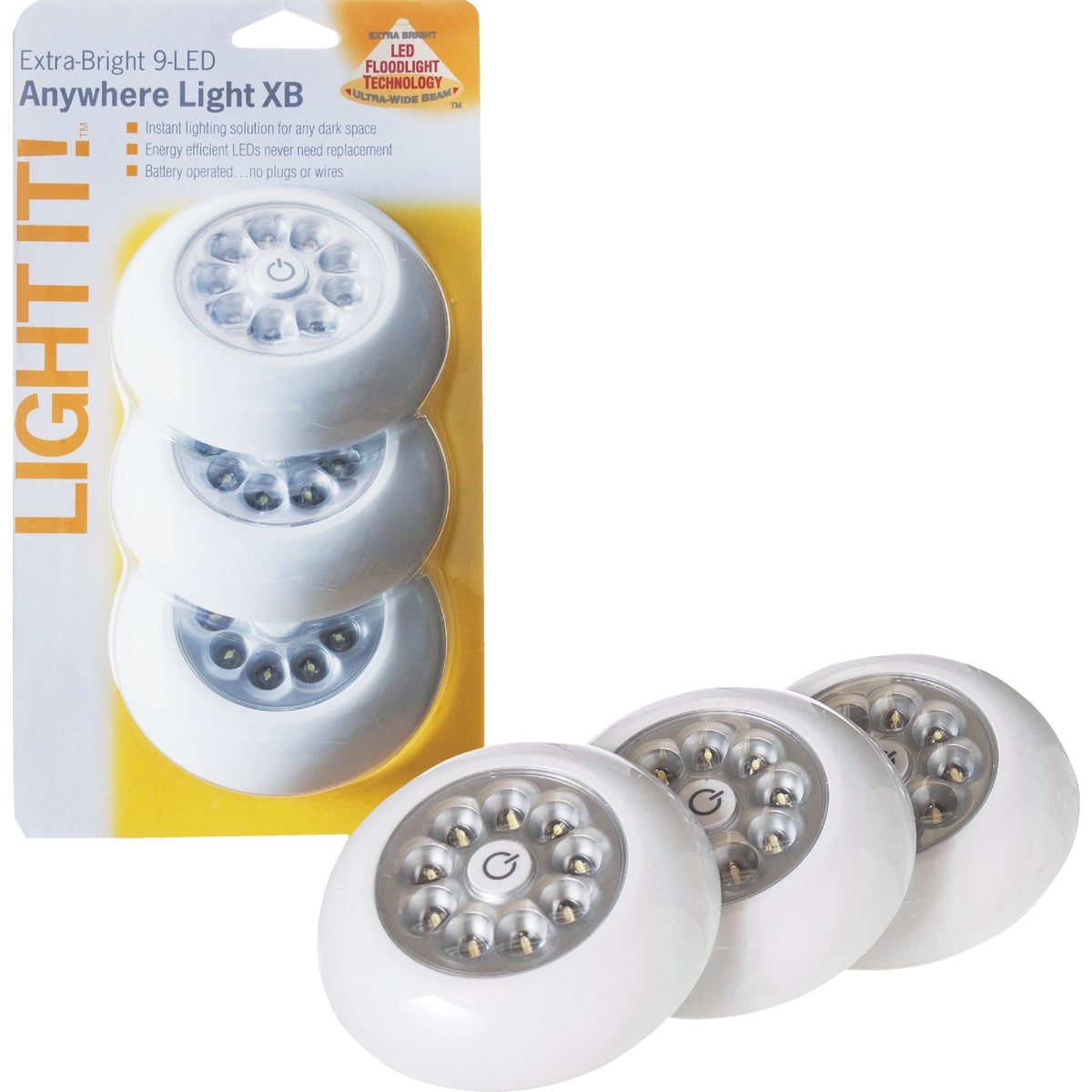 9 LED XB ANYWHERE LIGHT - 30016-308 by Fulcrum Products, Inc