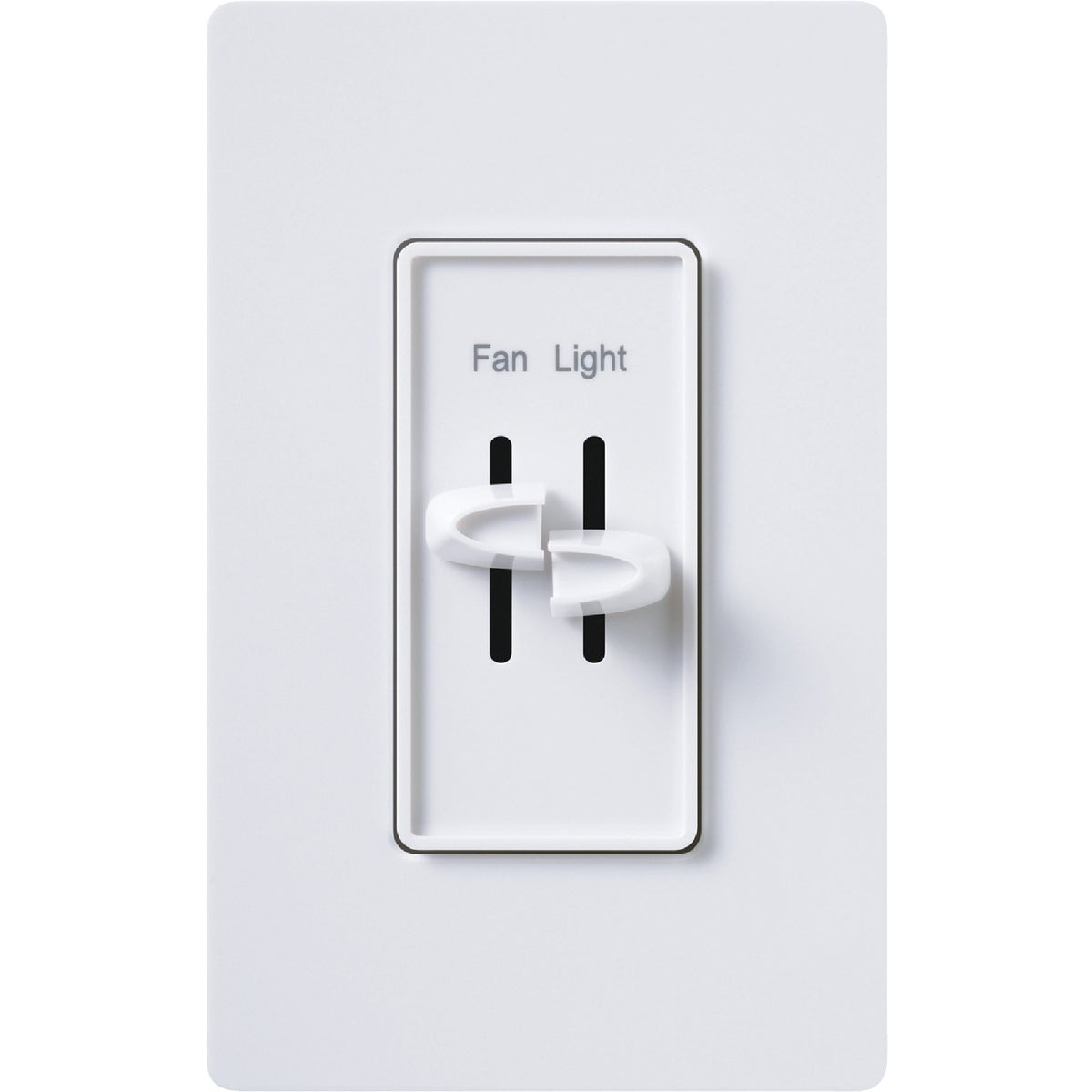 WH FAN CNTRL AND DIMMER - S2-LFSQH-WH by Lutron Elect Co Inc