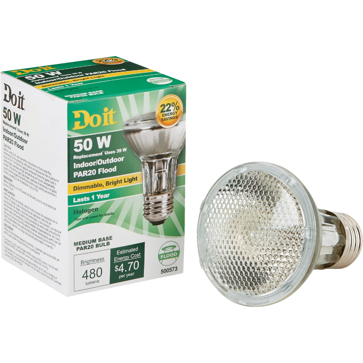 38W PAR20 HAL FLOOD BULB - 90828 by G E Private Label