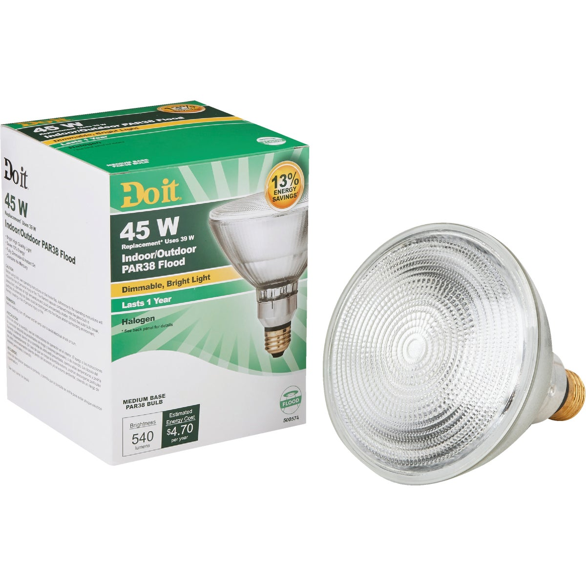 38W PAR38 HAL FLOOD BULB - 90831 38PARH1500FL25DIB by G E Private Label