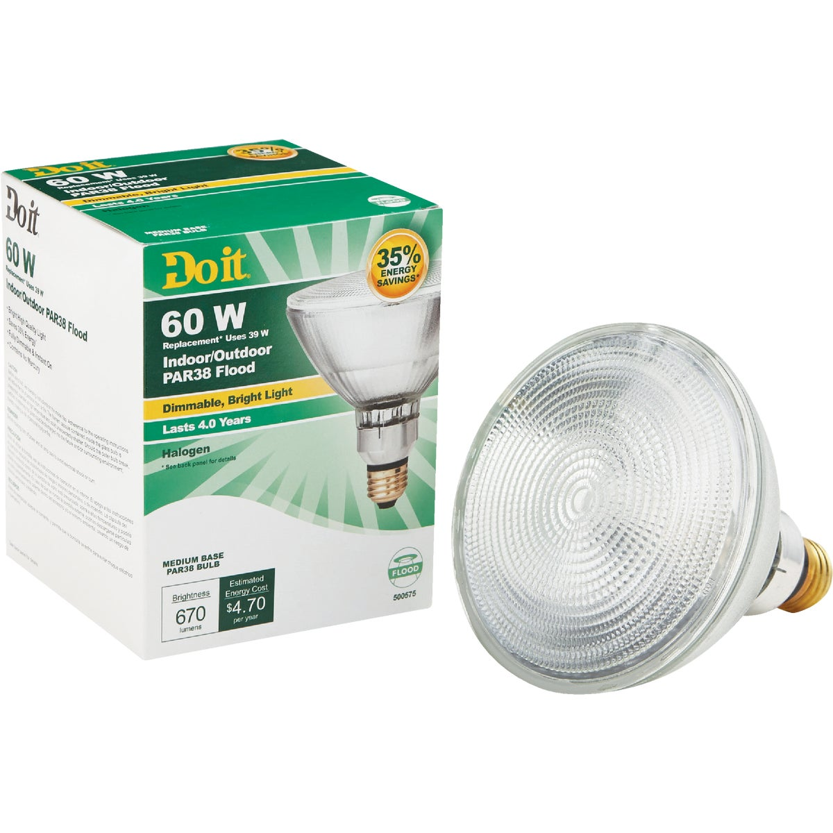 60W PAR38 HAL FLOOD BULB - 90832 by G E Private Label