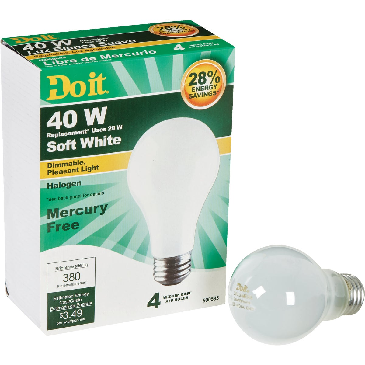 Do it A19 Halogen Light Bulb