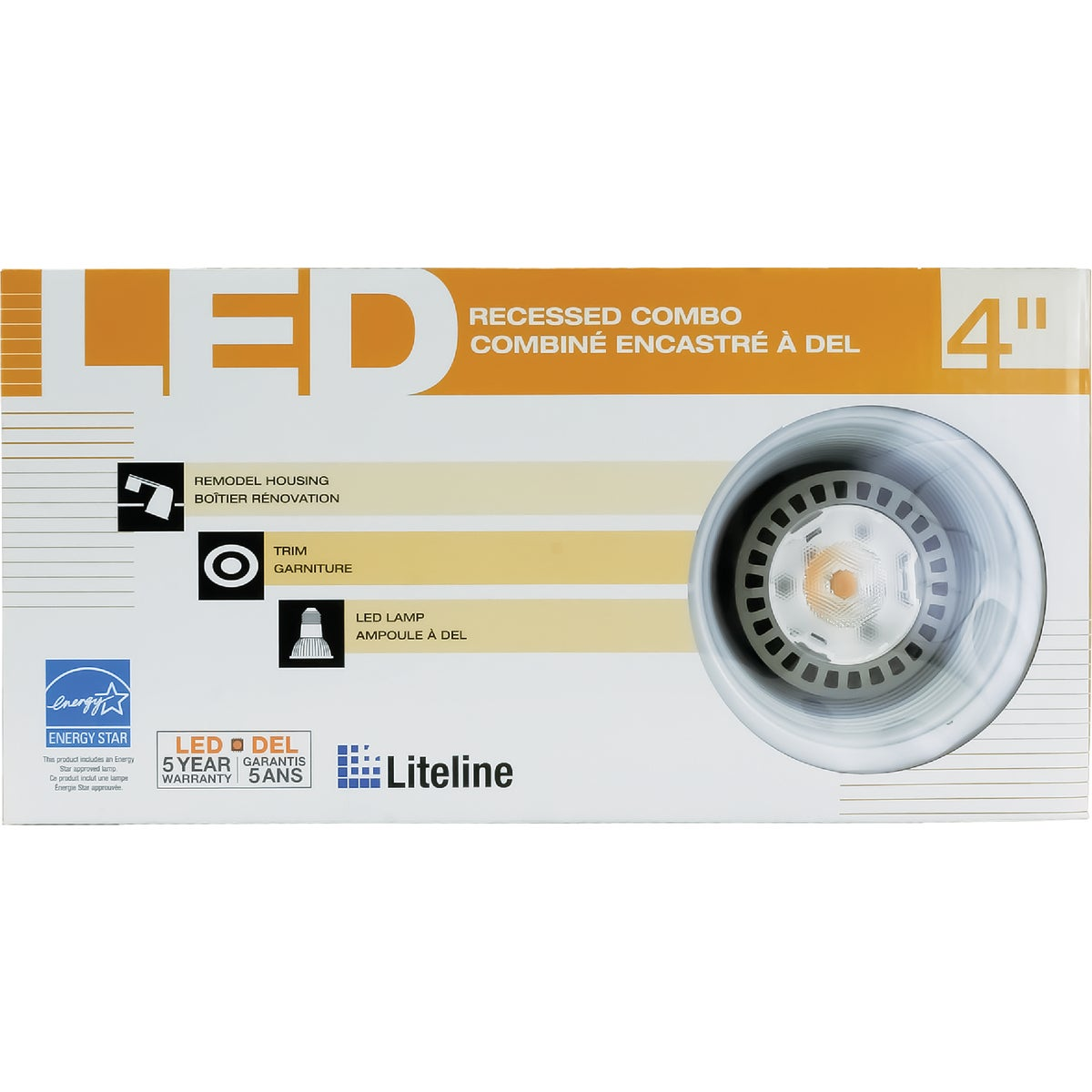 Liteline Corporation Remodel Combo With Baffle Trim Recessed Light Kit at Sears.com