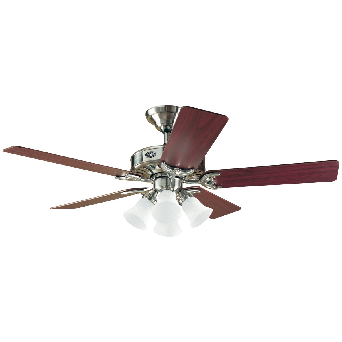 "52"" NKL CEIL FAN W/LIGHT - 53064 by Hunter Fan Co"