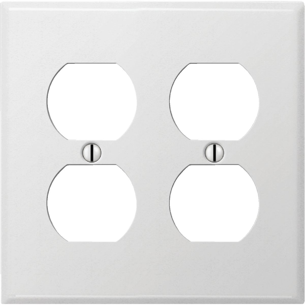 WHT DBL OUTLT WALL PLATE