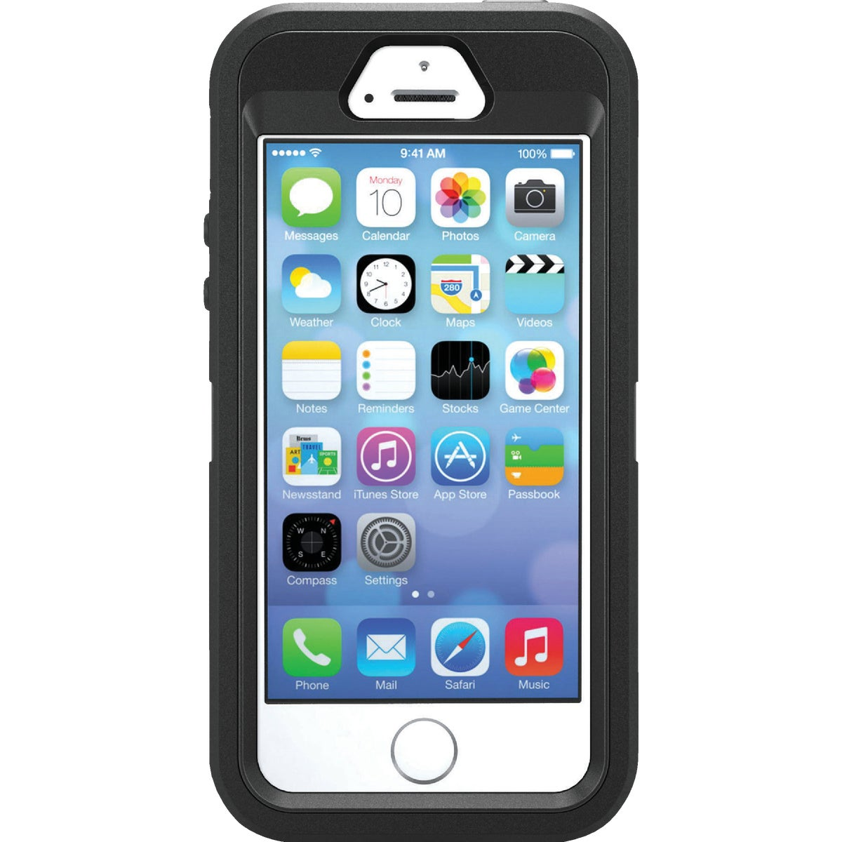 IPHONE5S BLK DEFEND CASE
