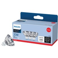 GE Lighting 20W 3PK MR16 BULB 85289 Q20MR16/FL/PQ3/6