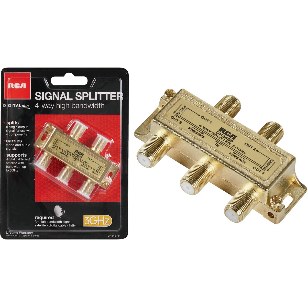 4-WAY 2.4GHZ SPLITTER