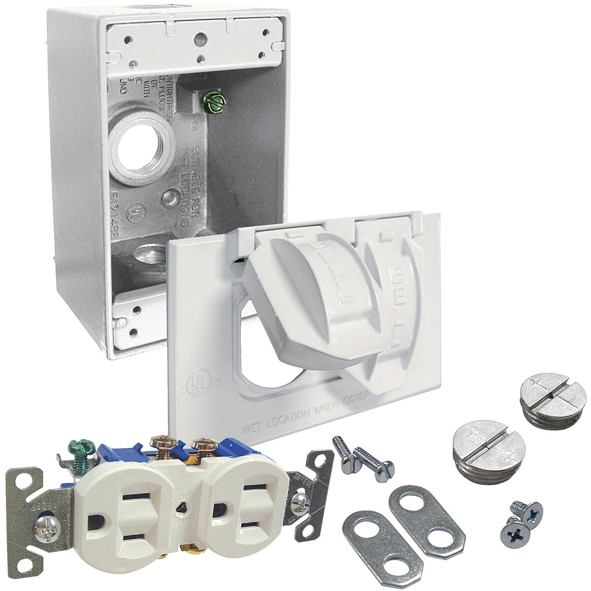 Bell Tamper Resistant Outdoor Outlet Kit, 5839-6WRTR