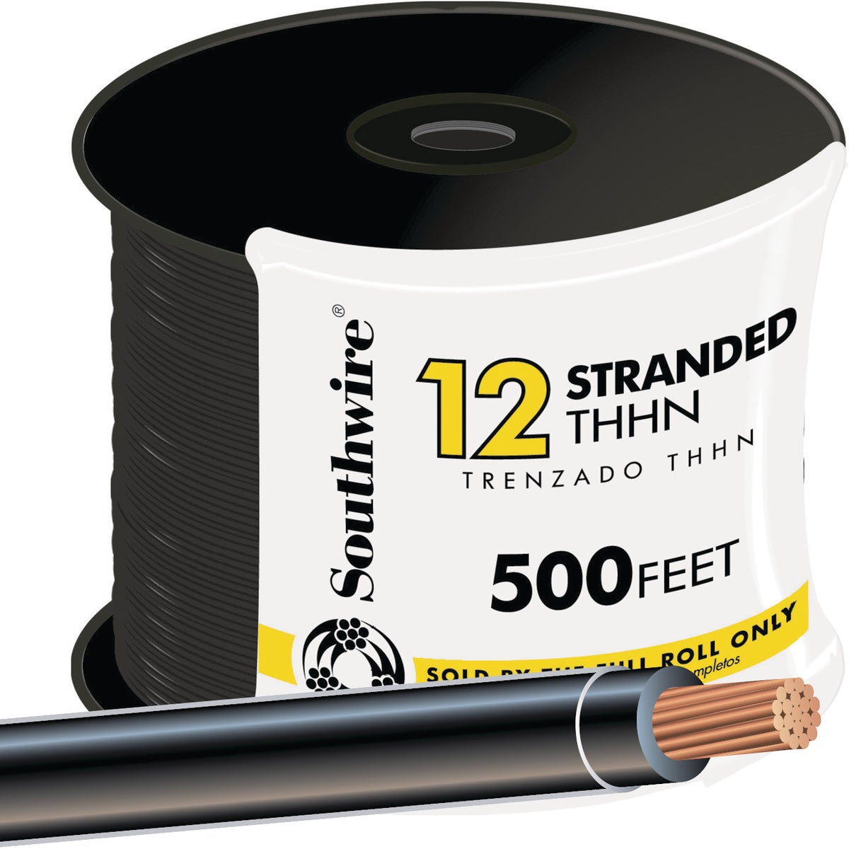 500' 12STR BLK THHN WIRE