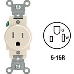 Leviton Commercial Grade Tamper Resistant Single Outlet
