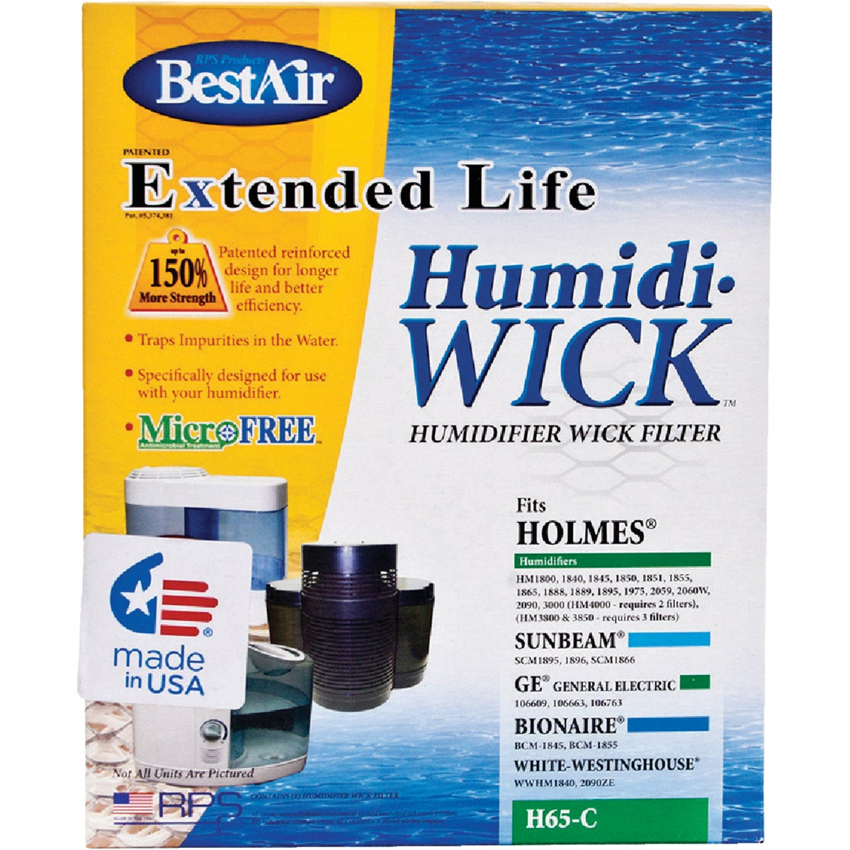 HUMIDIFIER WICK FILTER - H65-C by Rps Products Inc