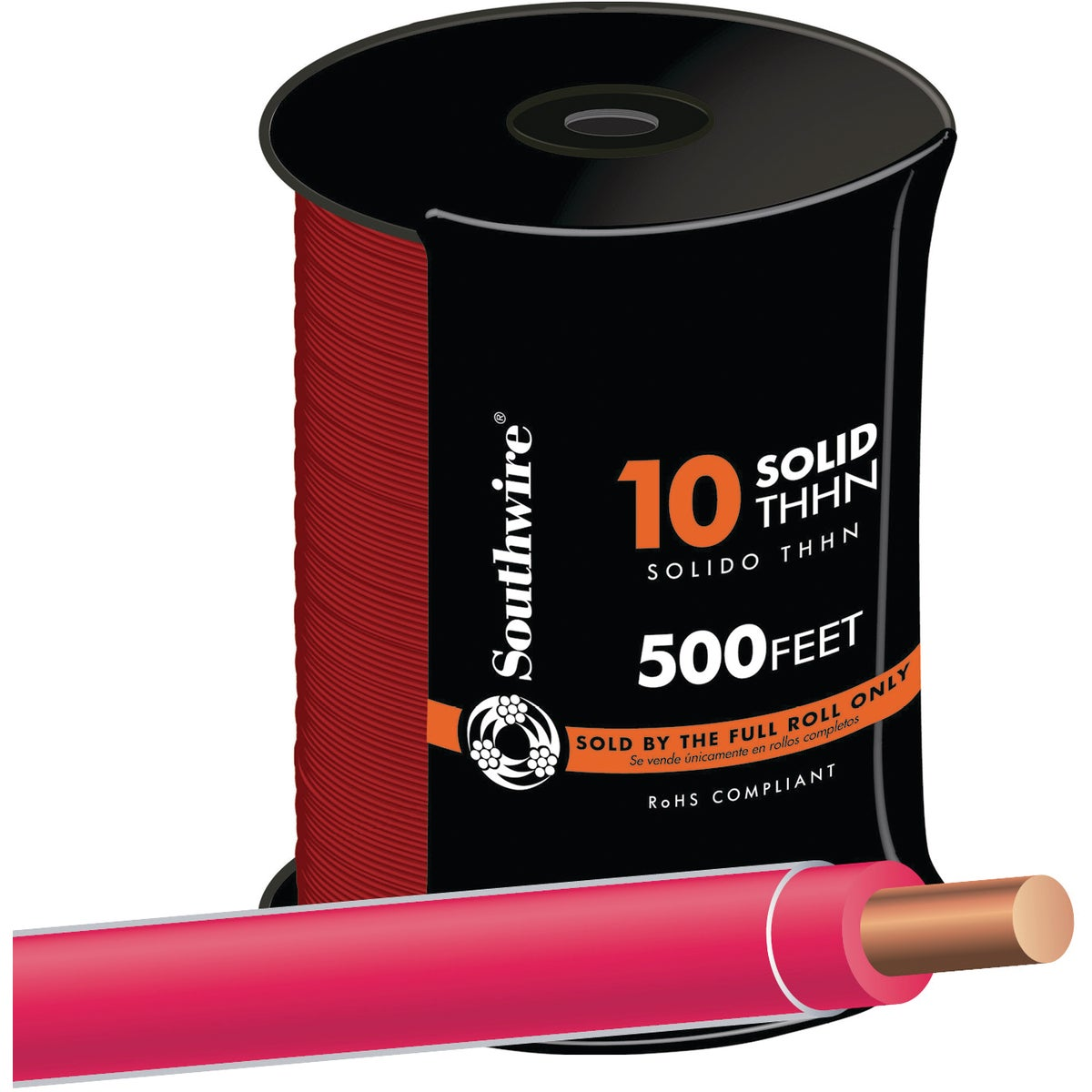 Southwire 500' 10SOL RED THHN WIRE 11597257