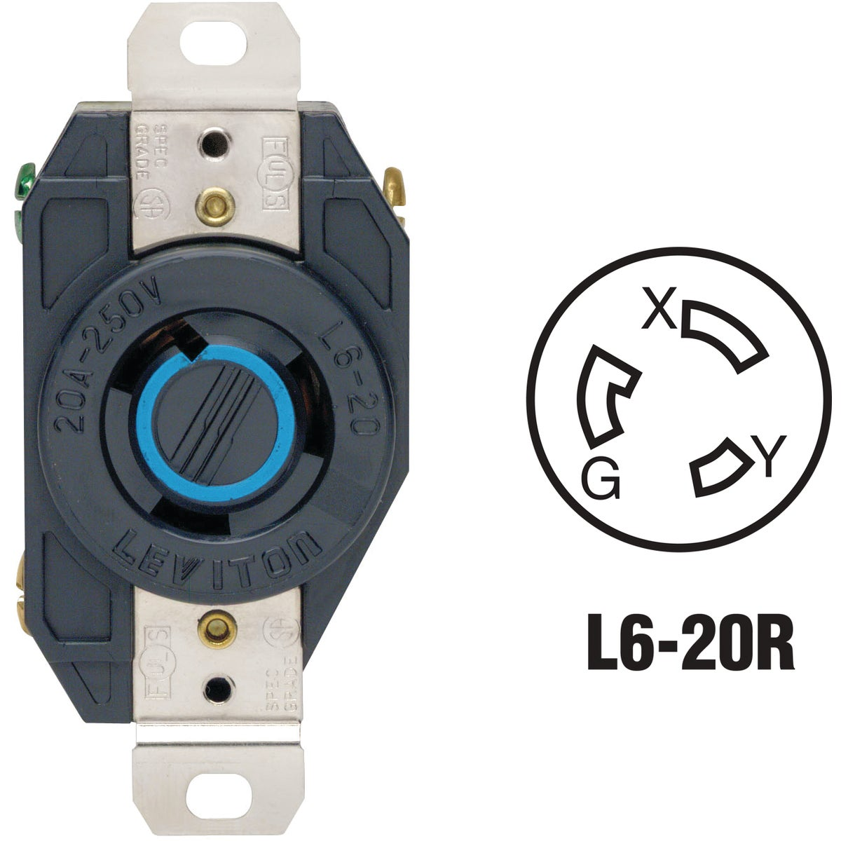LOCKING OUTLET - R022320 by Leviton Mfg Co