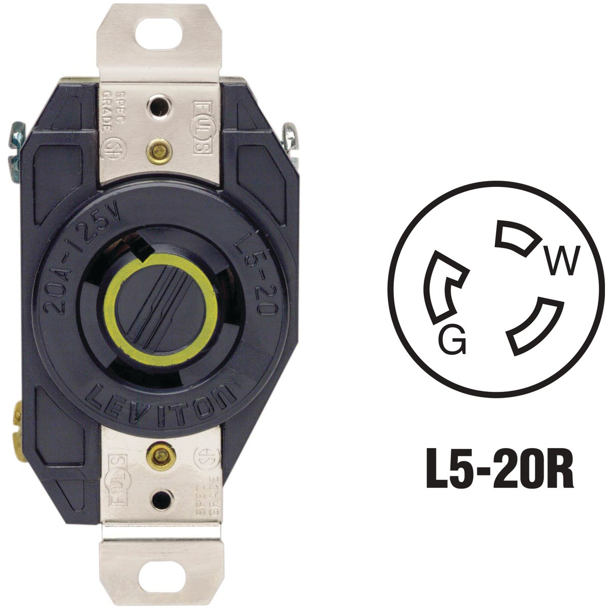 LOCKING OUTLET - 065-2310-000 by Leviton Mfg Co