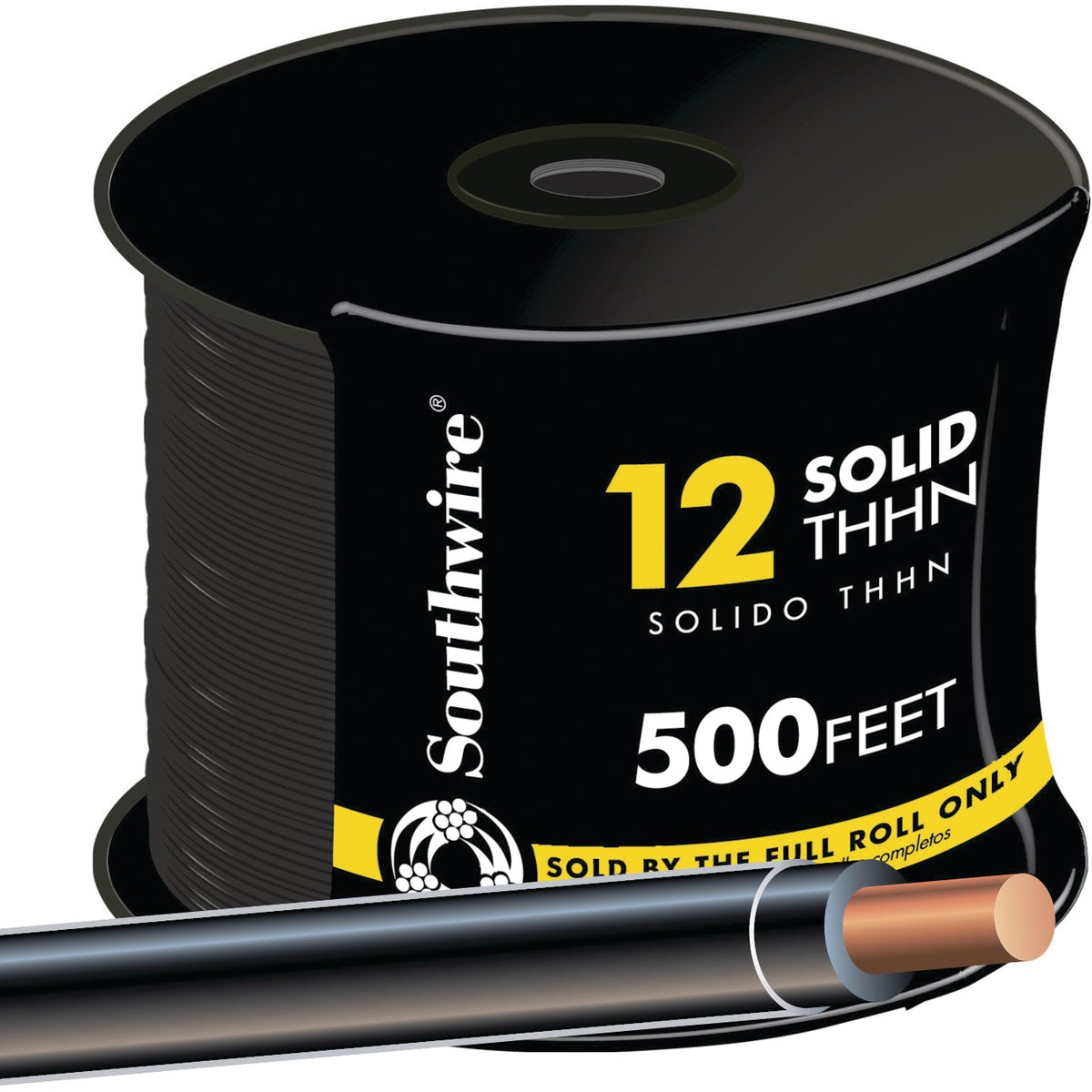 500' 12SOL BLK THHN WIRE - 11587358 by Southwire Company