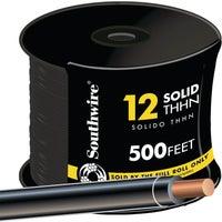 Southwire 500' 12SOL BLK THHN WIRE 11587357