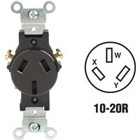 Leviton 20A BRN SINGLE OUTLET 405032000