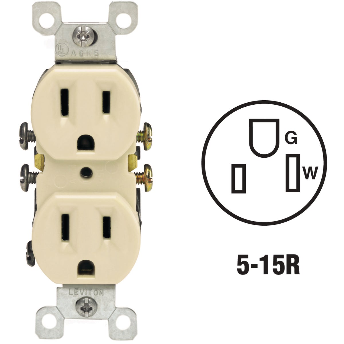 IV DUPLEX OUTLET - 5320IS by Leviton Mfg Co
