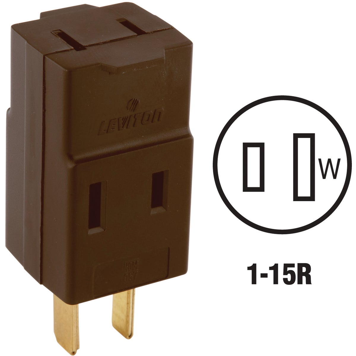 BRN POLARIZED CUBE TAP - 531 by Leviton Mfg Co
