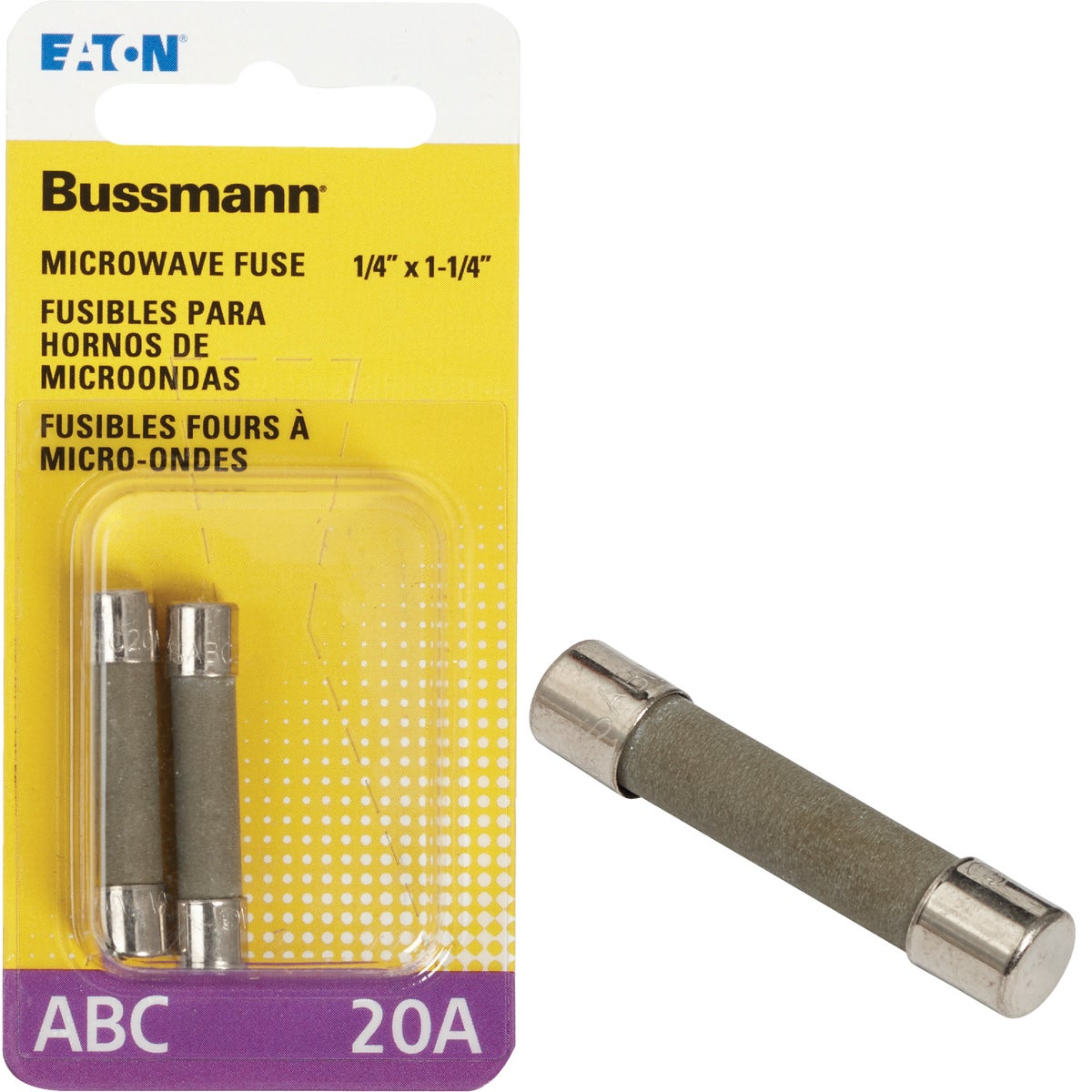 20A FAST ACTING FUSE - BP/ABC-20 by Bussmann Cooper